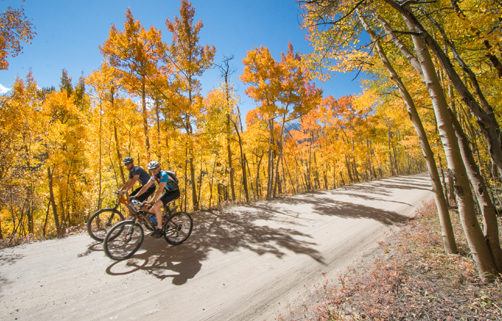 Riding bikes on Boreas during fall
